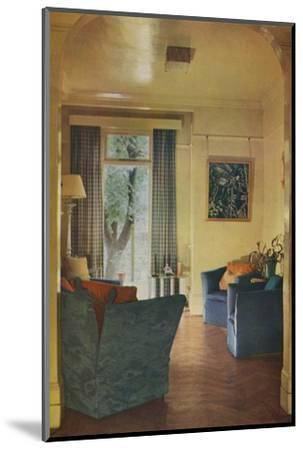 Interior of Mrs Ewart Sofio's house, 25 Bark Place, Bayswater, London, 1932-Unknown-Mounted Photographic Print