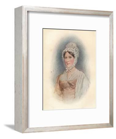'Elizabeth Gurney (b1790), at the age of 27 (circa), 1817-Unknown-Framed Giclee Print