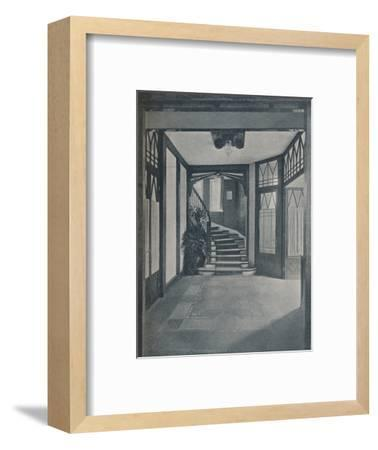 The floor and staircase of Behrens House, designed by Peter Behrens, 1901-Unknown-Framed Photographic Print