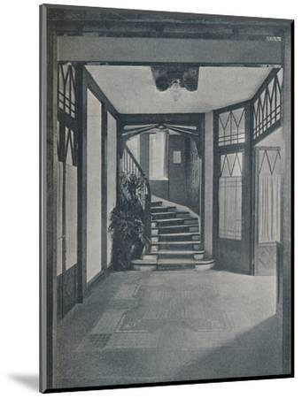 The floor and staircase of Behrens House, designed by Peter Behrens, 1901-Unknown-Mounted Photographic Print