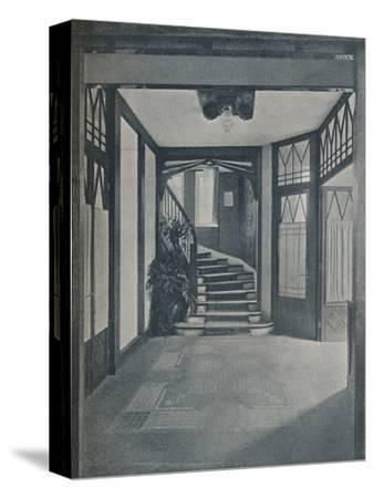 The floor and staircase of Behrens House, designed by Peter Behrens, 1901-Unknown-Stretched Canvas Print