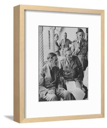 'Council of War in Algiers: Mr Churchill with his Captains', 1943-Unknown-Framed Photographic Print