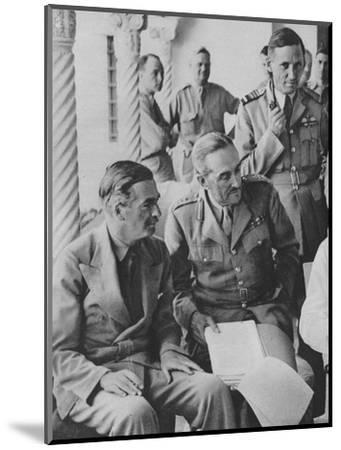 'Council of War in Algiers: Mr Churchill with his Captains', 1943-Unknown-Mounted Photographic Print