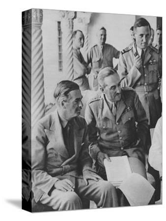 'Council of War in Algiers: Mr Churchill with his Captains', 1943-Unknown-Stretched Canvas Print