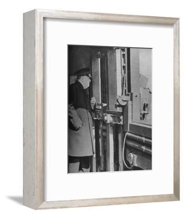 'Mr. Churchill on the bridge of the warship', 1943-44-Unknown-Framed Photographic Print