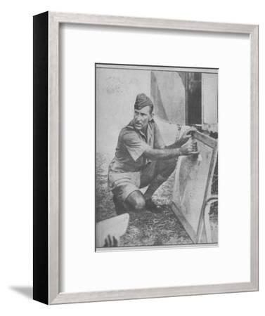 'He Knocked out the Luftwaffe in the Mediterranean', 1943-44-Unknown-Framed Photographic Print