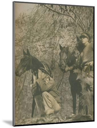 'Happy with Mounts Again', 1943-44-Unknown-Mounted Photographic Print