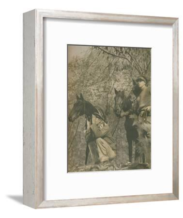 'Happy with Mounts Again', 1943-44-Unknown-Framed Photographic Print