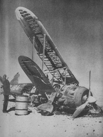 'Crashed in the Regia Aeronautica's Graveyard', 1941-Unknown-Framed Photographic Print