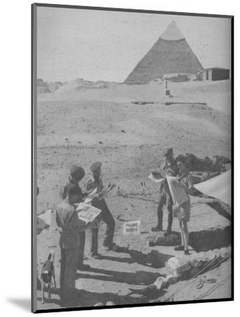 'Serving in the Middle East', 1945-Unknown-Mounted Photographic Print