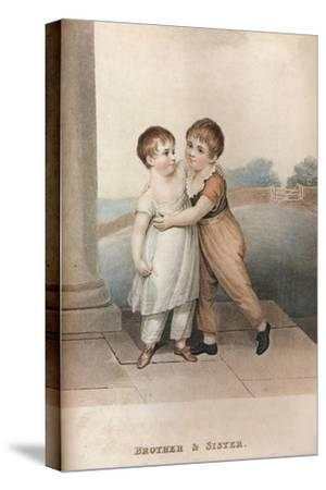 'Brother & Sister', c18th century-Unknown-Stretched Canvas Print
