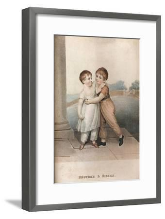 'Brother & Sister', c18th century-Unknown-Framed Giclee Print
