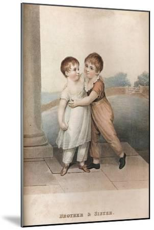 'Brother & Sister', c18th century-Unknown-Mounted Giclee Print
