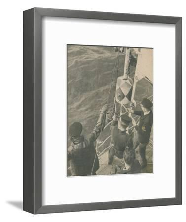 'Aboard a British Minesweeper', 1945-Unknown-Framed Photographic Print