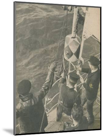 'Aboard a British Minesweeper', 1945-Unknown-Mounted Photographic Print
