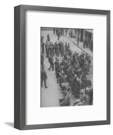 'Commando Raiders who pierced the Channel defences at Boulogne', 1942-Unknown-Framed Photographic Print