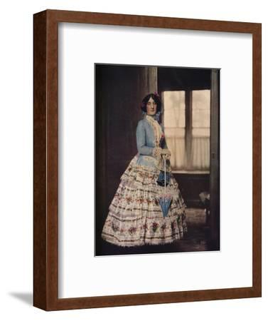 'An embroidered coat, with a lovely silk gauze skirt. In fashion between 1850 and 1860', c1913-Unknown-Framed Photographic Print