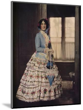 'An embroidered coat, with a lovely silk gauze skirt. In fashion between 1850 and 1860', c1913-Unknown-Mounted Photographic Print
