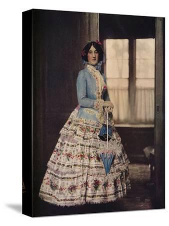 'An embroidered coat, with a lovely silk gauze skirt. In fashion between 1850 and 1860', c1913-Unknown-Stretched Canvas Print