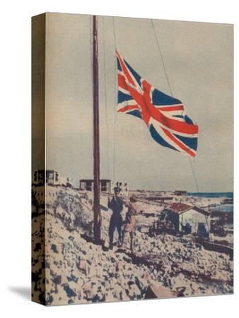 'The Union Jack Flies Over Tobruk', 1942-Unknown-Stretched Canvas Print