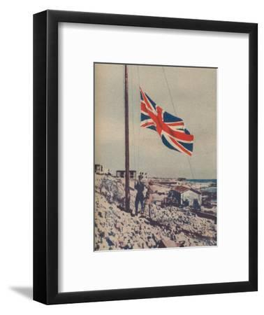'The Union Jack Flies Over Tobruk', 1942-Unknown-Framed Photographic Print