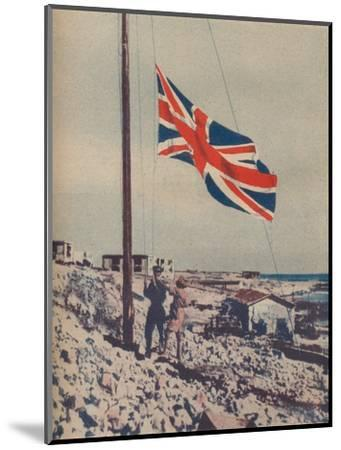 'The Union Jack Flies Over Tobruk', 1942-Unknown-Mounted Photographic Print