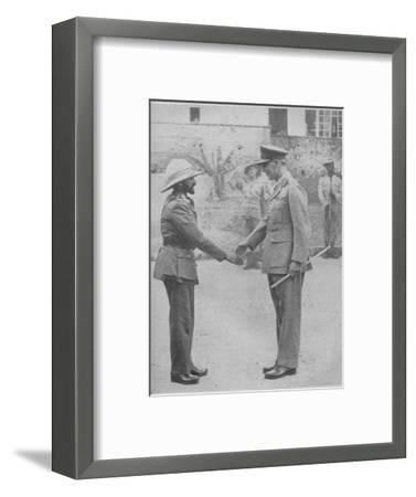 'Haile Selassie and General Cunningham', 1941-Unknown-Framed Photographic Print