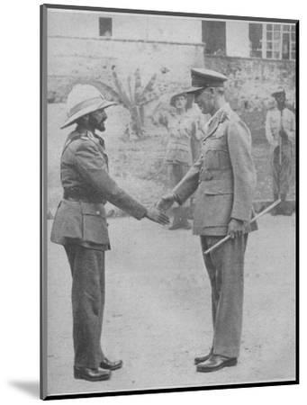 'Haile Selassie and General Cunningham', 1941-Unknown-Mounted Photographic Print