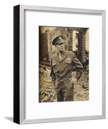 'He Led Our Liberating Armies to Victory', 1945-Unknown-Framed Photographic Print
