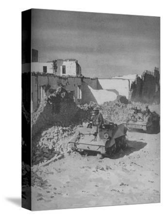 'Past Graziani's Shattered Stronghold Lies the Conquerors' Road', 1941-Unknown-Stretched Canvas Print