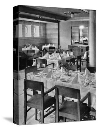 'Part of the Tourist Dining Saloon', 1935-Unknown-Stretched Canvas Print