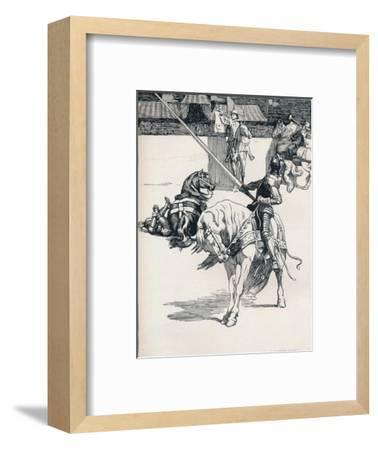 'Illustration for Ivanhoe by Anonymous', c1898-Unknown-Framed Giclee Print