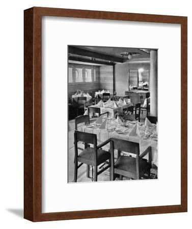 'Part of the Tourist Dining Saloon', 1935-Unknown-Framed Photographic Print