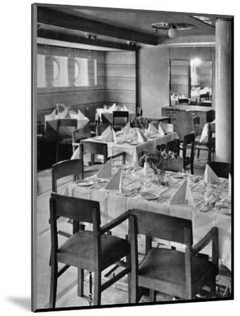 'Part of the Tourist Dining Saloon', 1935-Unknown-Mounted Photographic Print
