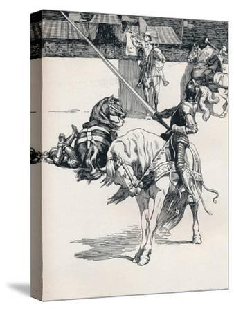 'Illustration for Ivanhoe by Anonymous', c1898-Unknown-Stretched Canvas Print