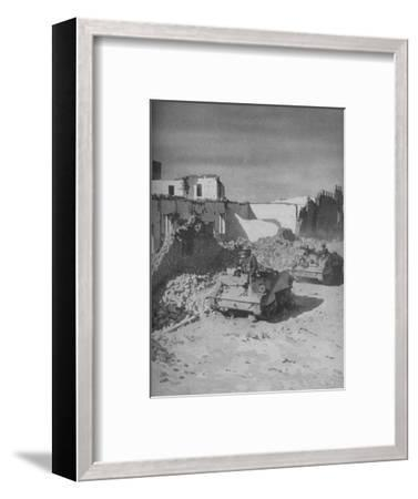 'Past Graziani's Shattered Stronghold Lies the Conquerors' Road', 1941-Unknown-Framed Photographic Print