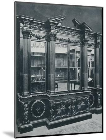 'Georgian Cabinet, reproduced by permission of H.R.H. The Princess of Wales', 1908-Unknown-Mounted Photographic Print