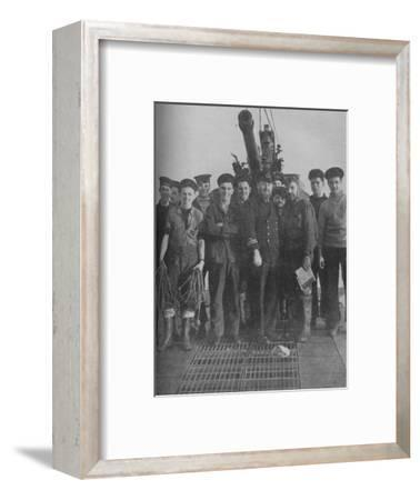 'Their Ship Rose from the Grave to Triumph', 1941-Unknown-Framed Photographic Print