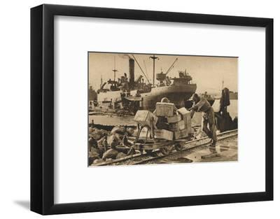 'Busy Scenes in Benghazi', 1943-Unknown-Framed Photographic Print