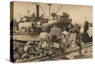 'Busy Scenes in Benghazi', 1943-Unknown-Stretched Canvas Print