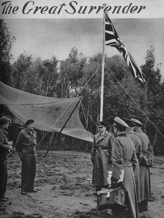 'The Great Surrender', 1945-Unknown-Framed Photographic Print