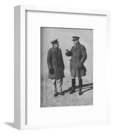 'Victors of the Western Desert in Conference', 1941-Unknown-Framed Photographic Print