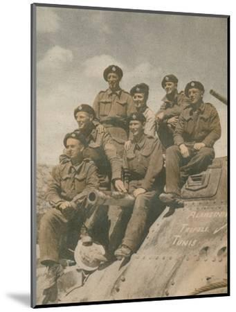 'Victors of the Mareth Line', 1943-Unknown-Mounted Photographic Print