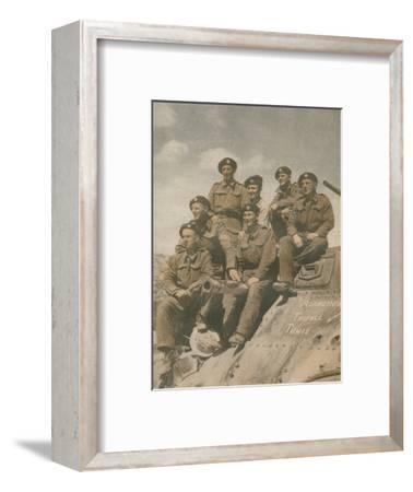 'Victors of the Mareth Line', 1943-Unknown-Framed Photographic Print