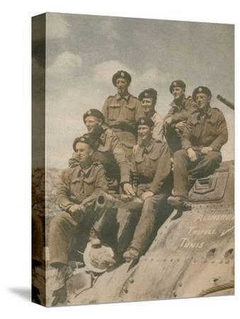 'Victors of the Mareth Line', 1943-Unknown-Stretched Canvas Print