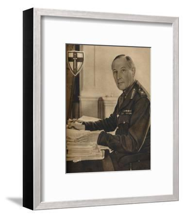 'Leader of Britain's Crusaders', 1942-Unknown-Framed Photographic Print