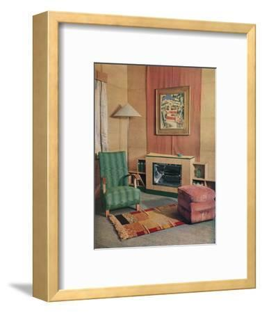 'A sitting room with a painting by J.D. Fergusson above the fire', 1935-Unknown-Framed Photographic Print