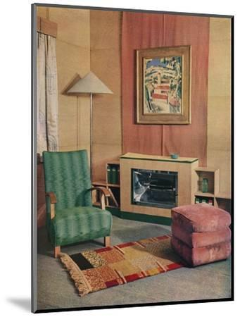'A sitting room with a painting by J.D. Fergusson above the fire', 1935-Unknown-Mounted Photographic Print