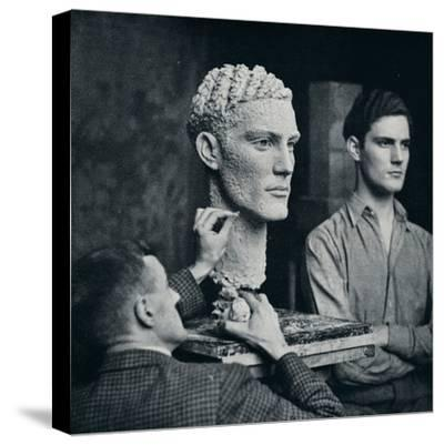 'Working on a Portrait of Mr. Duncan Guthrie', c1935-Unknown-Stretched Canvas Print