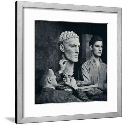 'Working on a Portrait of Mr. Duncan Guthrie', c1935-Unknown-Framed Photographic Print